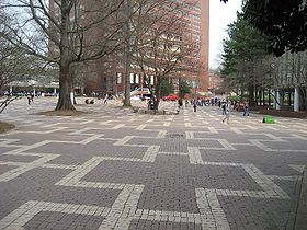 The Brickyard at NCSU, conceived of and designed by Dick Bell.